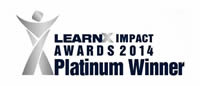 LearnX Impact Awards 2014 - Platinum Winner Award